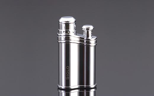 Bean-shaped Lighter - POLISH SLIVER,世紀銀色雪茄火槍打火機